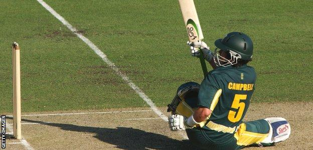 Ryan Campbell bats for Australia A in 2002