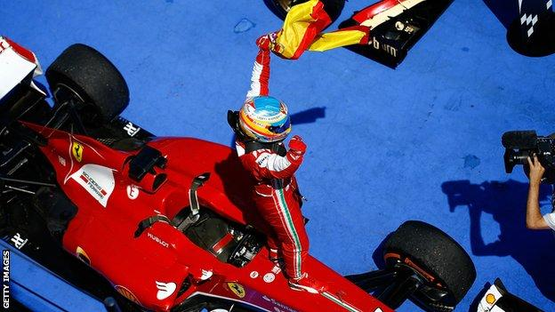 Fernando Alonso wins the Spanish Grand Prix in 2013