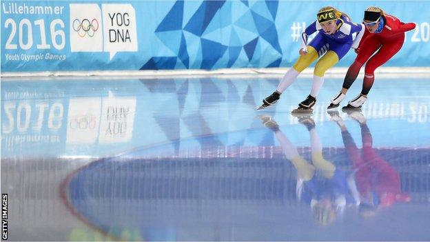 Winter Youth Olympics speed skaters