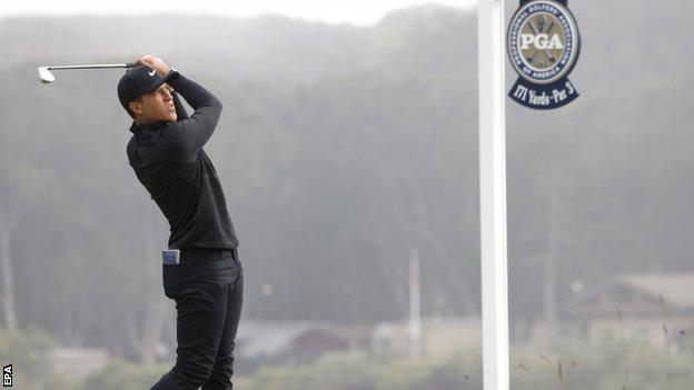 Cameron Champ playing at the 2020 US PGA Championship