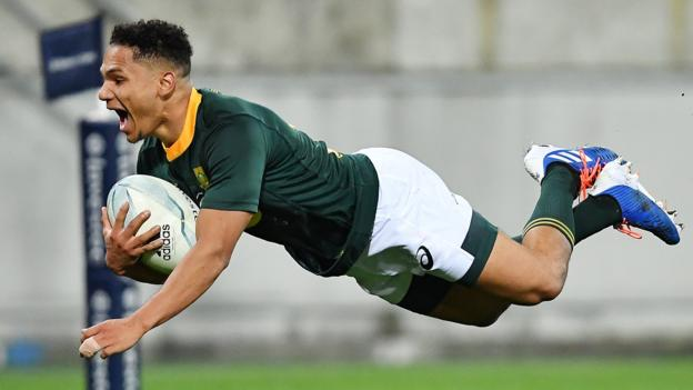 Rugby Championship: South Africa draw with New Zealand after late Herschel Jantjies try thumbnail