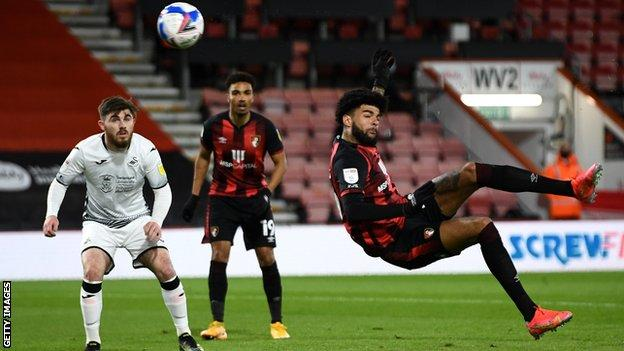 Philip Billing volleys in his fourth goals of the season
