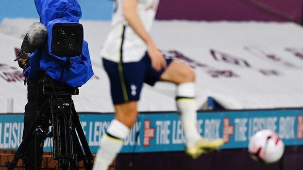 A TV camera at Tottenham