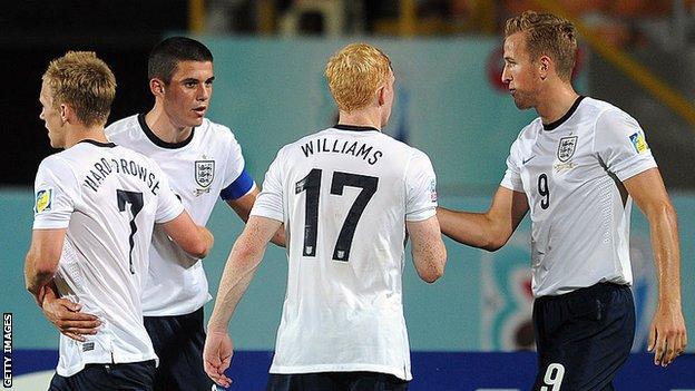 Conor Coady playing for England at the Under-20 World Cup in 2013