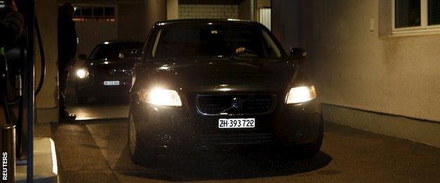 Police leave the Baur au Lac hotel