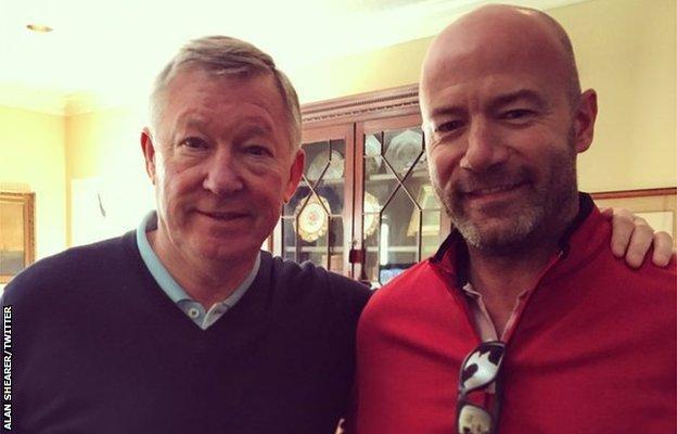 Sir Alex Ferguson and Alan Shearer