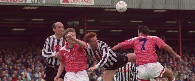 Former Walsall manager Dean Smith was in the Saddlers side beaten 5-1 by Crewe at Gresty Road in the Division Three play-off semi-final first leg