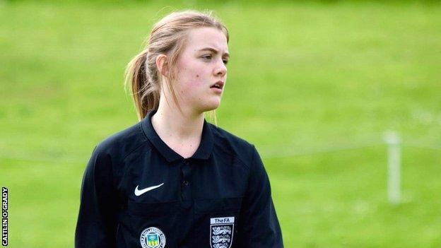 Level seven referee Caitlin O'Grady