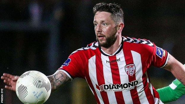 Derry City striker Rory Patterson
