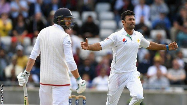 James Vince and Sohail Khan