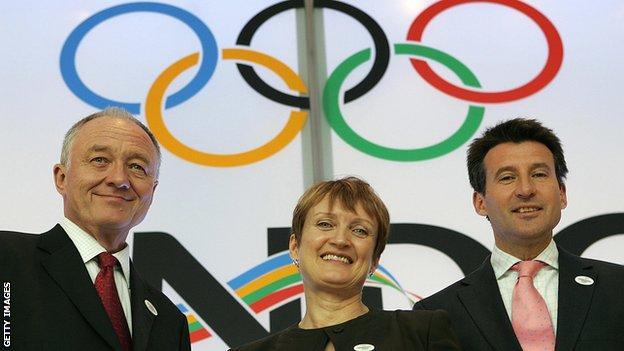 Ken Livingstone, Dame Tessa Jowell and Lord Coe