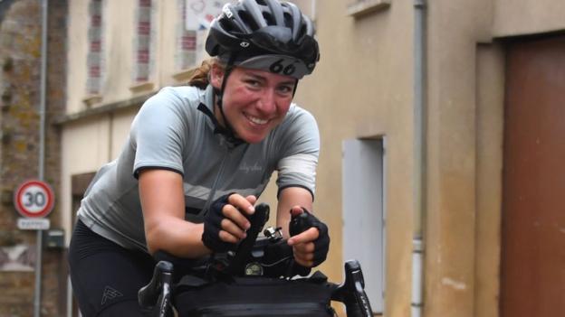 Transcontinental Race: Germany's Fiona Kolbinger becomes first female winner of endurance race thumbnail