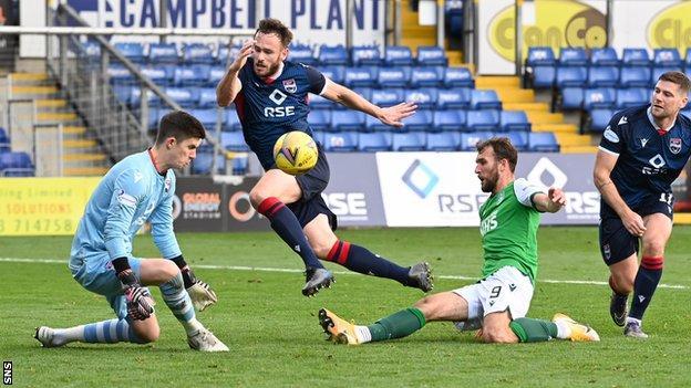 Ross County 0-0 Hibernian: Hibs held to draw by 10-man County - BBC Sport