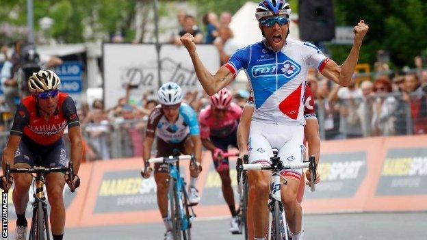 Thibaut Pinot wins stage 20 of the Giro d'Italia