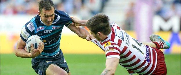 Danny McGuire had a first-half disallowed at the DW Stadium