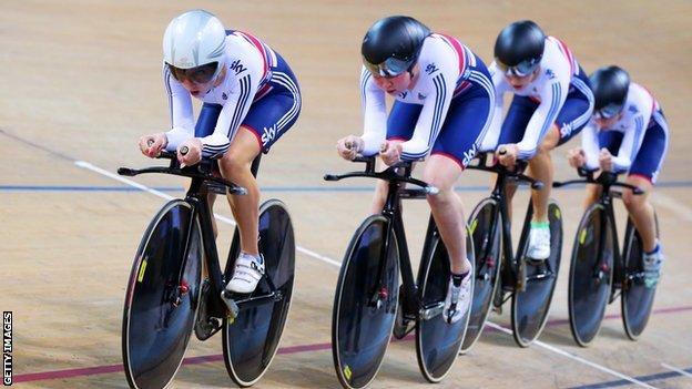 GB women's team pursuit quartet