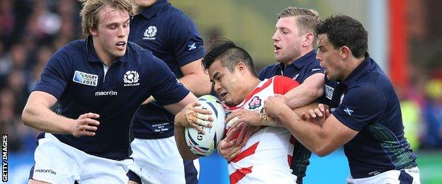 Japan v Scotland in the 2015 Rugby World Cup