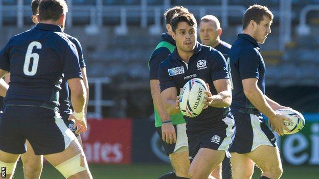 Sean Maitland starts in the Scotland backs for the game at St James' Park