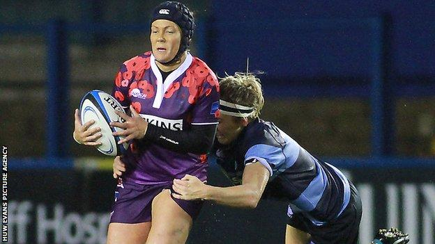 Gemma Rowland in action for UK Armed Forces