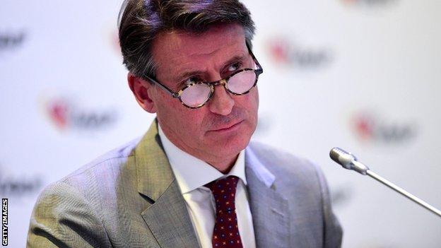 Lord Coe was appointed IAAF president in August