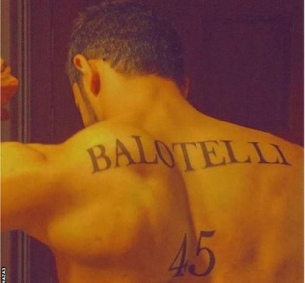 Balotelli tattoo