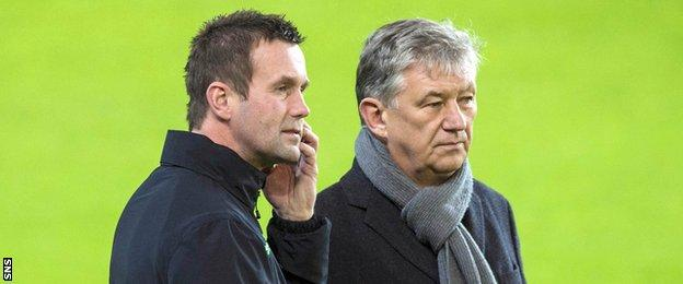 Celtic manager Ronny Deila and chief executive Peter Lawwell