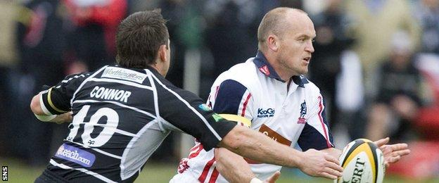 Gregor Townsend (right) in action for Border Reivers