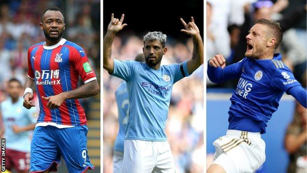 Jordan Ayew (Crystal Palace), Sergio Aguero (Man City), Jamie Vardy (Leicester)