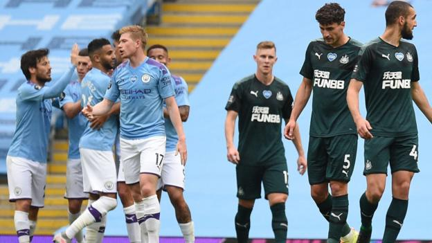 Man City 5-0 Newcastle: Gabriel Jesus, Riyad Mahrez, David Silva, Raheem Sterling rating thumbnail