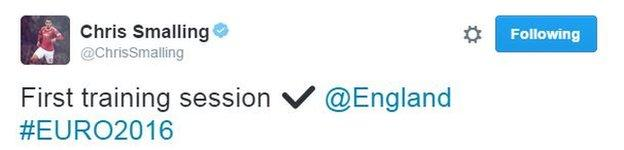 Smalling tweeted this message on Tuesday evening