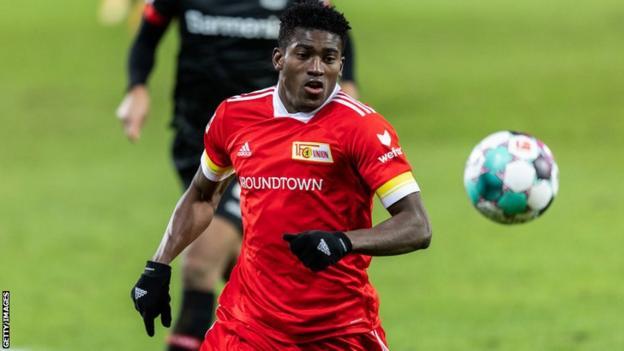 Nigerian striker Taiwo Awoniyi in action for German club Union Berlin