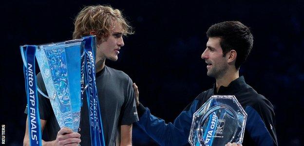 Zverev and Djokovic