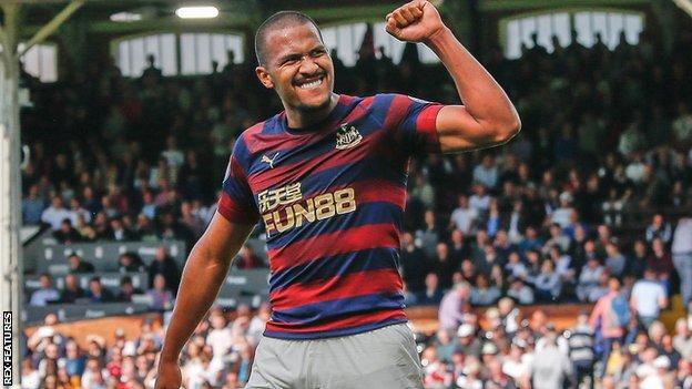 Salomon Rondon celebrates scoring for Newcastle