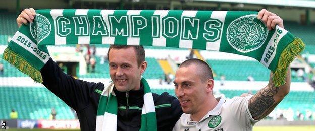 Celtic celebrate the title