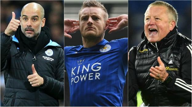 Pep Guardiola, Jamie Vardy, Chris Wilder