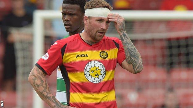 Partick Thistle forward Ryan Stevenson