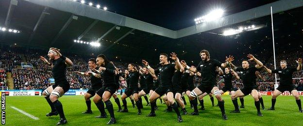 New Zealand v Tonga at Rugby World Cup