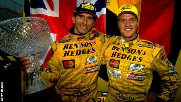 Damon Hill and Ralf Schumacher