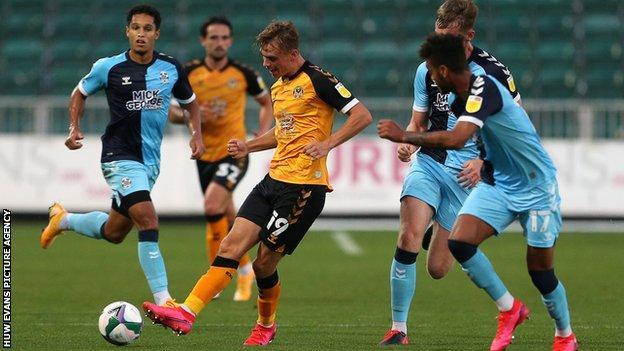 Newport scorer Scott Twine is on a season-long loan from Swindon Town