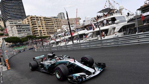 Lewis Hamilton in Monaco