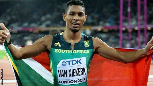 Wayde van Niekerk won successive world 400m titles at the 2015 and 2017 World Athletics Championships