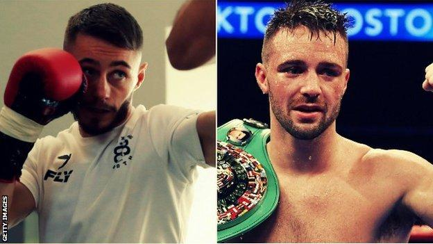 Burnett (left) defends his world title in Glasgow, where Taylor (right) takes on Ryan Martin