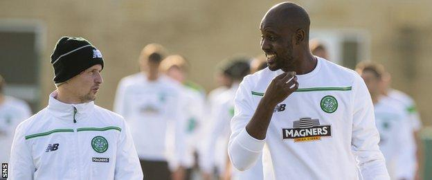 Celtic forwards Leigh Griffiths and Carlton Cole