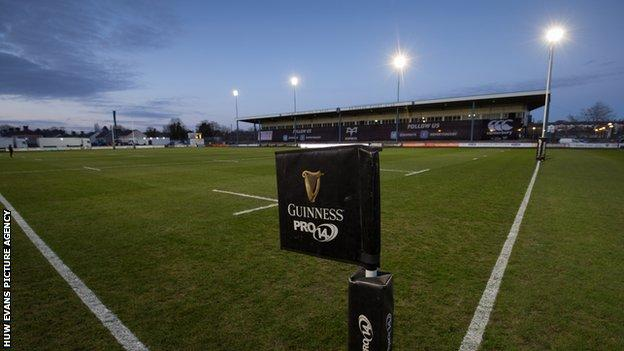 Ospreys were due to play Benetton at the Brewery Field in Bridgend