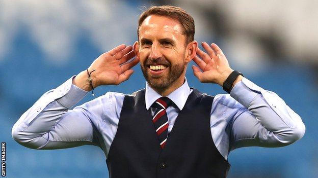 Gareth Southgate celebrates