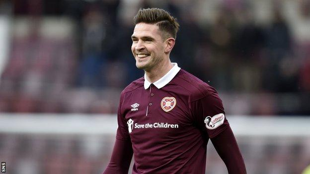 Hearts striker Kyle Lafferty smiles after their recent 3-0 win over Partick Thistle