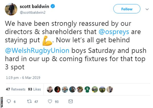 Scott Baldwin Tweet