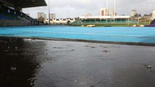 The Scotstoun ground which was due to host the Women's Six Nations match between Scotland and England