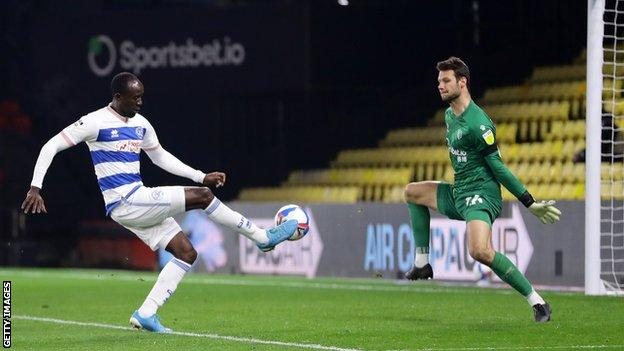 Albert Adomah scores QPR's winner at Watford