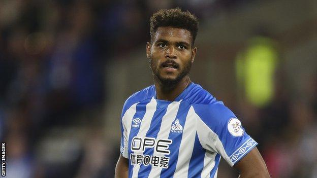 Huddersfield and Benin striker Steve Mounie